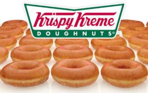 Oh my god, free Krispy Kreme donut!