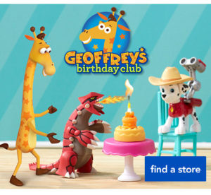 Presumably, Geoffrey is the giraffe.